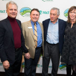 Arthur O. Sulzberger, Jr., Gala Co-Chair, Glenn D. Hoagland , Executive Director of the Mohonk Preserve, Robert De Niro, Honorary Gala Chair, and Jane Rosenthal at the 2014 Mohonk Preserve New York City Benefit at Three Sixty Tribeca. Photo by Brian Palmer.