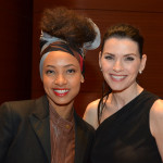 Julianna Margulies and Esperanza Spalding at the Academy of American Poets' 2014 Poetry & the Creative Mind Benefit at Alice Tully Hall, Lincoln Center, New York City. Photo by Star Black.