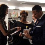 Terrence Howard, Diane Reeves and Brooke Shields backstage at the Academy of American Poets 2012 Poetry & the Creative Mind Benefit at Alice Tully Hall, Lincoln Center, New York City. Photo by Flo Lunn.