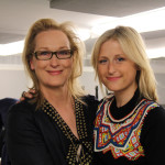 Meryl Streep and Mamie Gummer backstage at the Academy of American Poets 2012 Poetry & the Creative Mind Benefit at Alice Tully Hall, Lincoln Center, New York City. Photo by Flo Lunn.