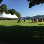 Cocktail Reception at the Hudson Valley Shakespeare Festival 2015 Summer Gala, Boscobel House & Gardens Garrison, NY.  Photo by Lynn McCary Events.