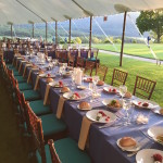 Dinner tent at the Hudson Valley Shakespeare Festival 2015 Summer Gala, Boscobel House and Gardens, Garrison, NY.  Photo by Lynn McCary Events.