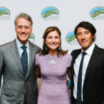 Honoree Jimmy Chin and Gala Co-Chairs Noah and Maria Gottdiener. The Mohonk Preserve 3rd Annual NYC Benefit Gala at The Ritz-Carlton Battery Park, New York.  Photo by Lauren Kallen.